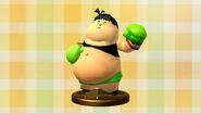Diseño de trofeo - Little Mac (Captain Rainbow) - (SSB. for Wii U)
