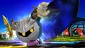 Meta Knight apunto de extender su capa SSB4 (Wii U)