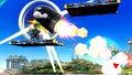 Mega Man usando un Bill Bala SSB4 (Wii U)