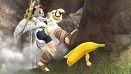 Pit resbalandose con la Monda de Platano (Objeto) SSB4 (Wii U)