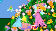 Estela junto a la reina de las Hadas en Pac-Land SSB4 (Wii U)