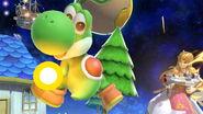 Yoshi haciendo una finta en Mario Galaxy SSBU