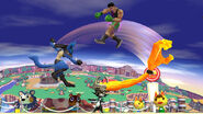 Midna atacando a Little Mac SSB4 (Wii U)