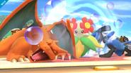Charizard durmiendo junto a Lucario SSB4 (Wii U)