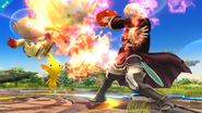 Daraen y Olimar en el Campo de Batalla SSB4 (Wii U)