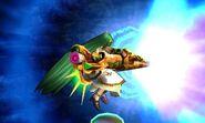 Palutena lanzando el Aurora SSB4 (3DS)