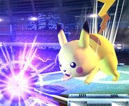 Pikachu usando Rayo SSBB