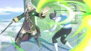 Daraen mujer y la Entrenadora de Wii Fit en el Templo SSBU