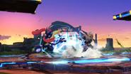 Sheik cargando Tormenta de cuchillas y Greninja cargando Shuriken de agua SSB4 (Wii U)