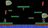 Primera variación de Balloon Fight SSB4 (3DS)