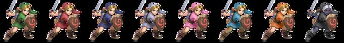 Paleta de colores de Link niño SSBU.png