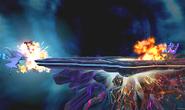 Mega-Charizard X usando Llamarada en Destino Final SSB4 (3DS)