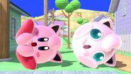 Kirby y Jigglypuff en Onett SSBU