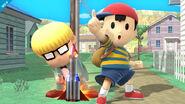 Ness y Jeff en Onett SSB4 (Wii U)