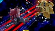 Zoroark realizando Golpes Furia contra Bowser SSBWiiU