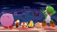 Comida Junto a kirby y Yoshi SSB4 (Wii U)