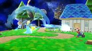 El ACUAC de Mario siendo desviado por Estela SSB4 (Wii U)