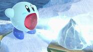 Kirby usando Tragar en La Cúspide SSBU