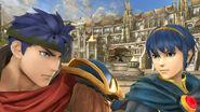 Ike y Marth en el Coliseo SSB4 (Wii U)