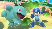 Mega Man e Ivysaur en la Isla Tórtimer SSBU
