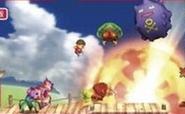 El Aldeano y algunos enemigos en el Smashventura