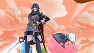 Lucina y Kirby en el Reino Champiñón U SSB4 (Wii U)