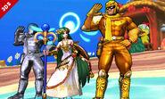 Captain Falcon y Palutena en Isla Tórtimer SSB4 (3DS)