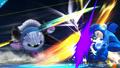 Meta Knight atacando a Mega Man SSB4 (Wii U)