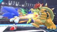 Sonic y Bowser en SSB4(Wii U)
