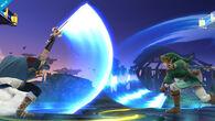 Marth y Link cruzando sus espadas en combate - (SSB. for Wii U)