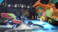 Greninja atacando a Charizard SSB4 (Wii U)