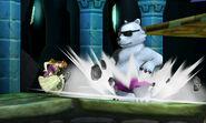 Zelda junto a un Oso Polar SSB4 (3DS)