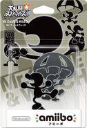 Embalaje del amiibo de Mr. Game & Watch (Japón)