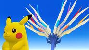 Pikachu y Xerneas SSB4 (Wii U)