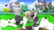 Entrenador de Wii Fit y Sheik en 3D Land SSBU