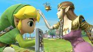 Zelda y Toon Link en Altárea SSB4 (Wii U)