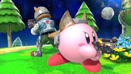 Kirby y Fox en Mario Galaxy SSBU