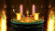 Aldeano, Pit y Yoshi en la Liga Pokémon de Kalos SSB4 (Wii U)