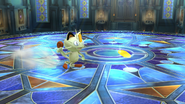 Meowth atacando en SSB4 (Wii U)