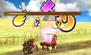 Contenidos de un cofre en la Smashventura SSB4 (3DS)