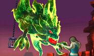 Entrenadora de Wii Fit contra un monstruo SSB4 (3DS)