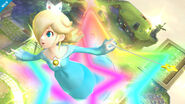 Estela saliendo de un aro de estrellas SSB4 (Wii U)