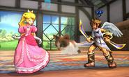 Peach y Pit en la Casa rural SSB4 (3DS)