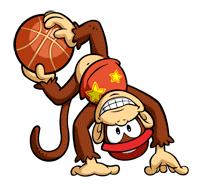 Pegatina de Diddy Kong en Mario Slam Basketball SSBB.png