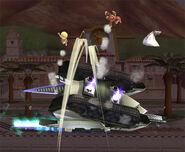 Landmaster Fox girando SSBB
