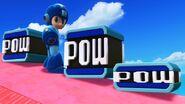 Mega Man junto a los diferentes tamaños de Bloques POW SSB4 (Wii U)