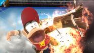 Diddy Kong usando Cacahuetola en el Ring de boxeo SSB4 (Wii U)