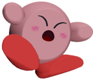 Modelo de K.O. de pantalla de Kirby SSB4 (Wii U)