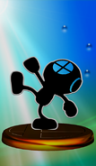 Trofeo de Mr. Game & Watch (Smash 2) SSBM