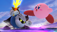 Kirby atacando a Meta Knight SSB4 (Wii U)